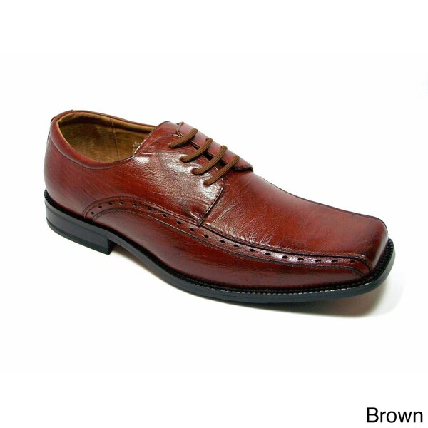 Delli Aldo Men's Classic Square Toe Medium-Width Oxfords