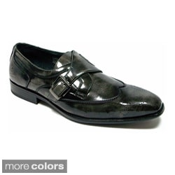 Delli Aldo Men's Wing Tip Classic Loafers with Belt Closure Design
