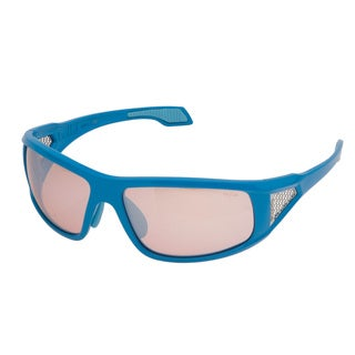 Bolle 'Diablo' Shiny Blue and Clear Sport Sunglasses
