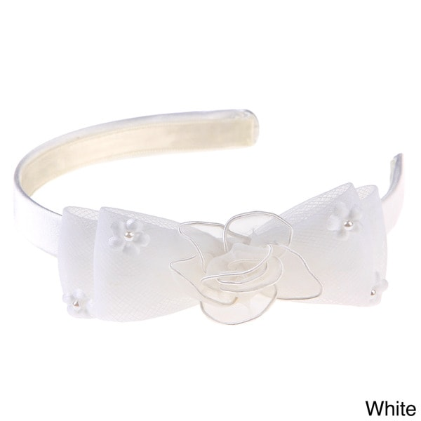 Sweetie Pie Girls Lace Bow Headband