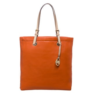 MICHAEL Michael Kors 'Jet Set' Tangerine Leather Tote