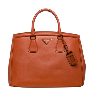 Prada 'Parabole' Papaya Saffiano Leather Tote