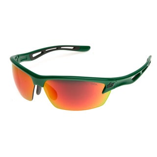 Bolle Men's 'Bolt' Shiny Green Gradient Wrap Sunglasses