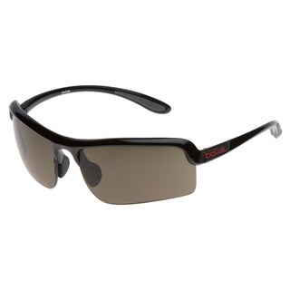 Bolle 'Vitesse' Shiny Black Casual Wrap Sunglasses