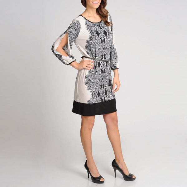 R & M Richards Women's Paisley Printed Dress