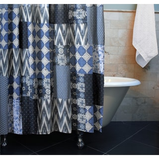 Santorini Patchwork Cotton Shower Curtain