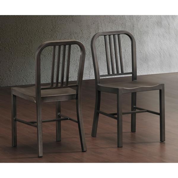 vintage metal side chairs set of 2 dining kitchen room living modern