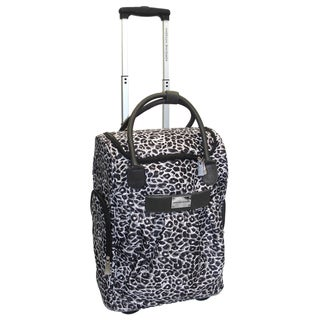 Adrienne Vittadini 18-Inch Polyester Rolling Carry-On Weekender