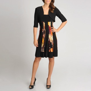 R & M Richards Women's Panel Printed 2-piece Jacket Dress