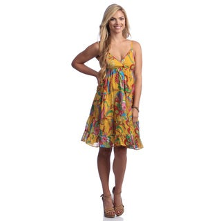 Lazy Daisy Women's Floral Print Cotton Sundress