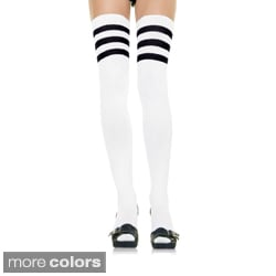 Leg Avenue by Beston Athlete 3-stripe Top Thigh-highs