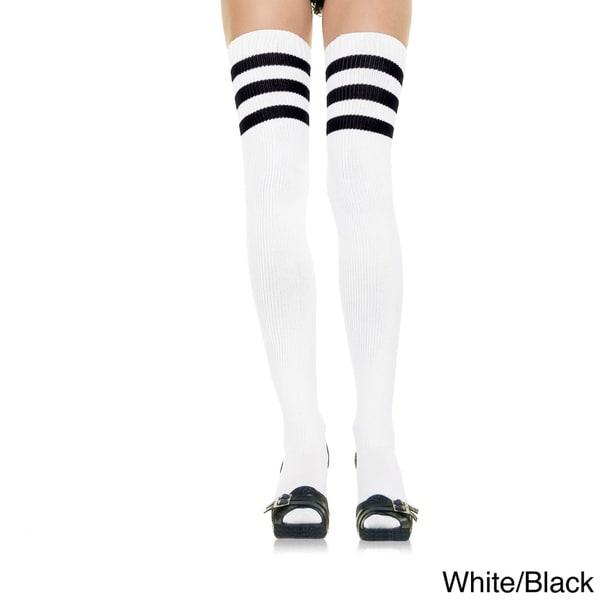 Leg Avenue by Beston Athlete 3-stripe Top Thigh-highs