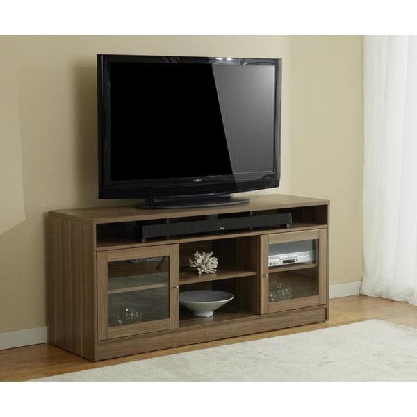 Jesper Office Walnut TV Stand with Soundbar Shelf
