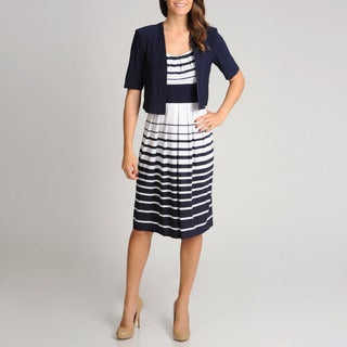 R&M Richards Women's Novelty Nautical 2-piece Jacket Dress