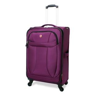 Wenger Eggplant Neolite 24-inch Expandable Lightweight Spinner Upright Suitcase