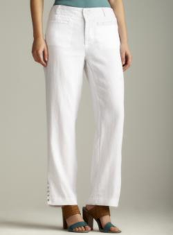 For Cynthia Ankle Cutout Linen Pants