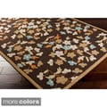Hand-hooked Paule Marrot Cannes Floral Indoor/ Outdoor Rug (8' x 10')