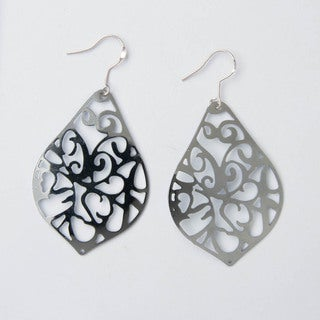 Silver Teardrop Earrings (China)