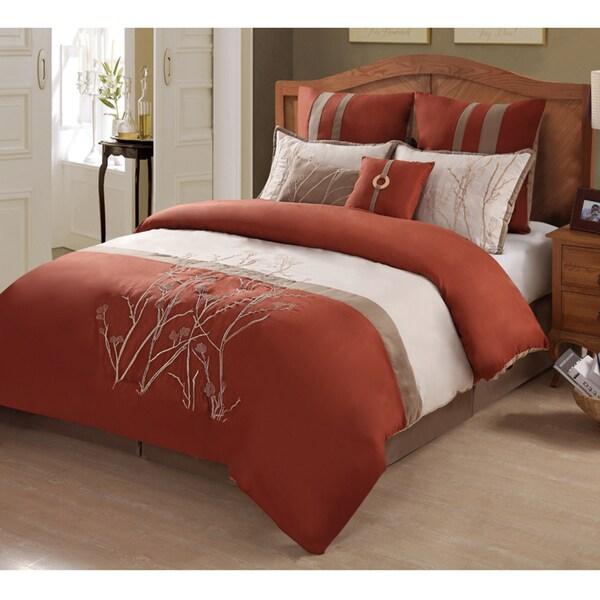 Taylor Rust 8 Piece Comforter Set 15447053 Overstock