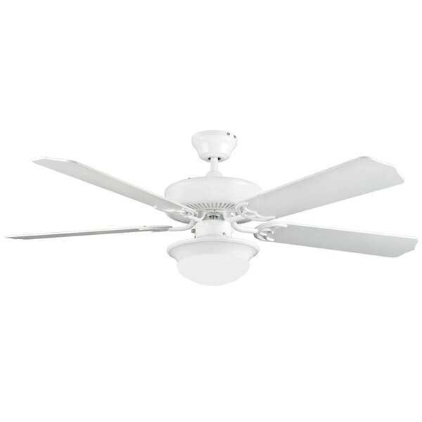 52 Inch Five Blade Two Light Ceiling Fan / Light Kit