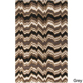Hand-Tufted Candice Olson Modern Geometric Rectangular Wool Rug (8' x 11')