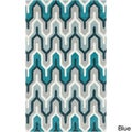 Hand-tufted Contemporary Geometric Area Rug (8' x 11')