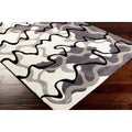 Hand-tufted Contemporary Grey Rug (8' x 11')