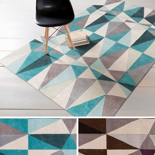 Hand-tufted Contemporary Geometric Rug (8' x 11')