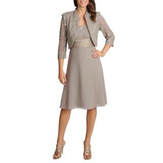 R & M Richards Women's 2-piece Mandarin Jacket Dress