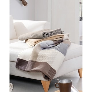 Solare Cotton Pure Patchwork Oversize Throw