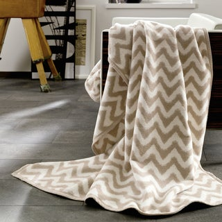 Messina Shades of Nature Chevron Oversize Throw