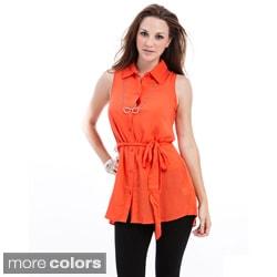 Stanzino Women's Sleeveless Button-down Tunic
