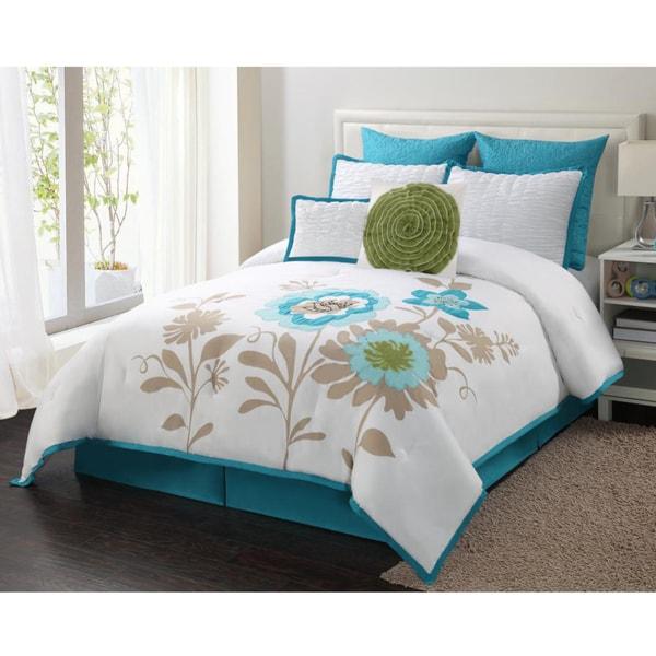 Blossom Blue 8-piece Comforter Set