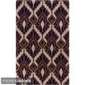 Hand-tufted Malene B Destinations Geometric Wool Rug (8' x 11')