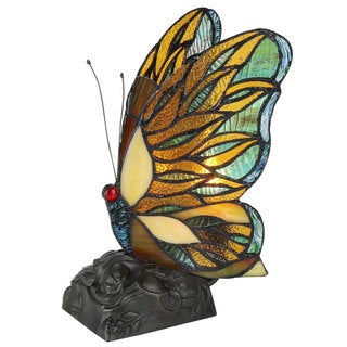 Tiffany-style Butterfly Design 1-light Plug-in Night Light