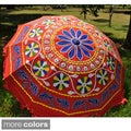 Large Adjustable Hand-Embroidered Umbrella (India)