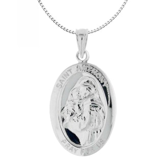 Moise Sterling Silver St. Anthony 'Pray for Us' Necklace