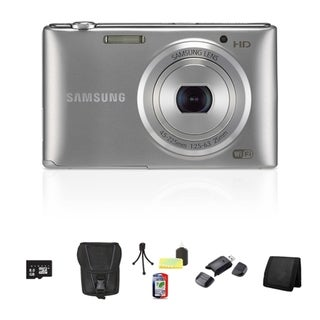Samsung ST150F Smart 16.2MP Silver Digital Camera 8GB Bundle