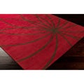 Hand-tufted Forum Red Floral Wool Rug (8' x 11')