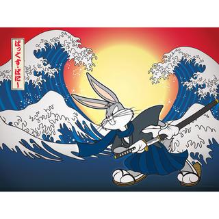 Bugs Bunny Samurai Canvas Wall Art