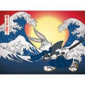 Bugs Bunny Samurai Canvas Wall Art