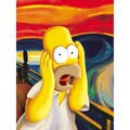 The Simpsons Homer 'The Scream' Canvas Wall Art