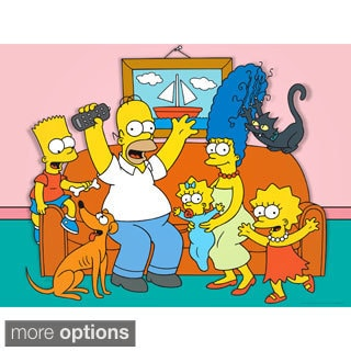 The Simpsons Family Canvas Wall Art