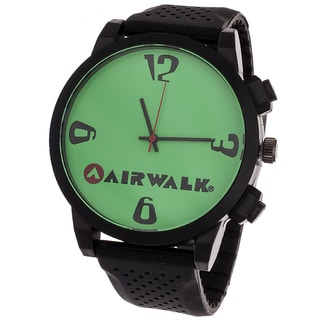 AIRWALK Men's 'Pinpoint' Green Dial Watch