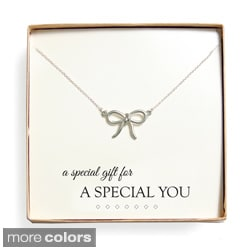 'Special Gift' Bow Necklace Gift Set