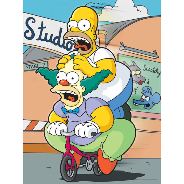 The Simpsons Homer and Krusty Wall Art