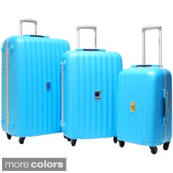 CalPak LFT3000 Festival 3-piece Polypropylene Spinner Luggage Set