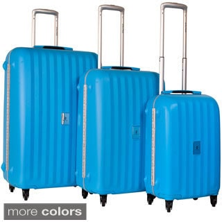 CalPak Festival 3-piece Polypropylene Spinner Luggage Set