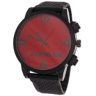 AIRWALK Men's 'Pinpoint' Red Dial Watch