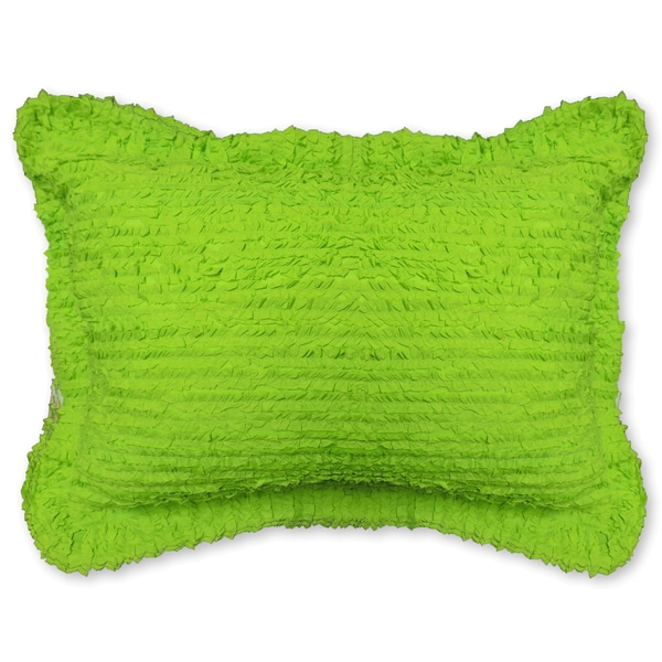 Pretty Ruffled Green Shams